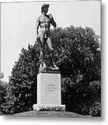 Statue Of David Delaware Park Buffalo Ny Metal Print