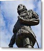 Statue Of Don Pedro Menendez De Aviles Metal Print