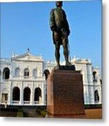 Statue Of Gregory Outside National Museum Colombo Sri Lanka Metal Print