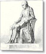 Statue Of James Watt In Westminster Metal Print
