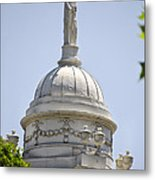 Statue Of Justice On Top Of New York City Hall Metal Print