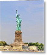 Statue Of Liberty Macro View Metal Print