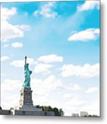 Statue Of Liberty On New York City Metal Print