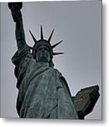 Statue Of Liberty - Paris France - 01132 Metal Print