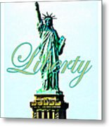 Statue Of Liberty Metal Print by The Creative Minds Art and Photography