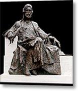 Statue Of Nizami Ganjavi  Metal Print