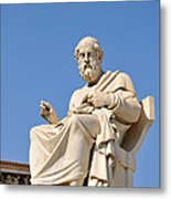Statue Of Plato Metal Print