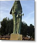 Statue Of Saint Clare Santa Clara California Metal Print