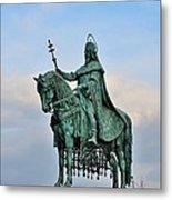 Statue Of St Stephen Hungary King Metal Print