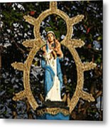 statue of the Virgin Mary in Granada Nicaragua Metal Print