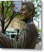 Statue Of Us President Bill Clinton Metal Print