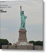 Statue With Colossus Metal Print