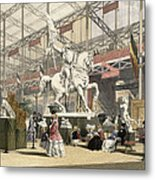 Statues In The Belgium Section Metal Print