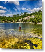 Stay Off Ice - Klondike Spring Metal Print