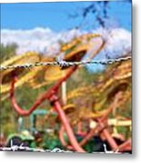 Stay Out Metal Print