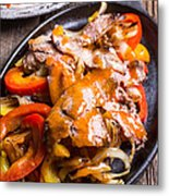 Steak Fajitas Metal Print