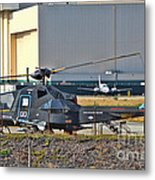Stealth Air Attack Helicopter Metal Print