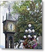 Steam Clock At Gastown In Vancouver Bc Metal Print