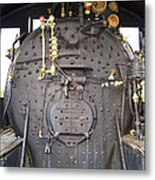 Steam Engine 444 Fire Box And The Controls Metal Print