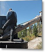 Steam Engine 489 At The Watering At Sublette Station On The Cumbres And Toltec Rr Metal Print