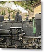 Steam Engine At Cumbres Pass Metal Print