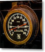 Steam Engine Gauge Metal Print