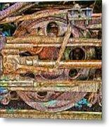 Steam Engine Linkage 2 Metal Print