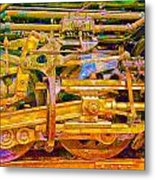 Steam Engine Linkage 3 Metal Print
