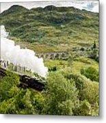 Steam Engine On Glenfinnan Viaduct Metal Print