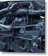 Steam Engine Wheels Metal Print