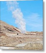 Steam From Earth Metal Print