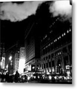 Steam Heat - New York At Night Metal Print