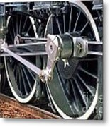 Steam Locomotive Coupling Rod And Driver Wheels Metal Print