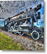 Steam Locomotive No 606 Metal Print