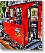 Steam Locomotive Old West V2 Metal Print