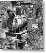 Steam Locomotive Old West V3 Metal Print
