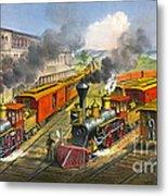 Steam Locomotives 1874 Metal Print