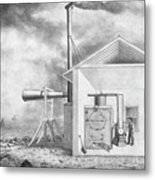 Steam-powered Foghorn Metal Print