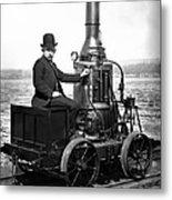 Steam Powered Rail Cart C. 1892 Metal Print