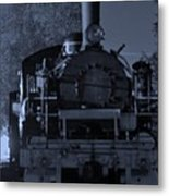 Steam Train At Night Metal Print by Donald Torgerson