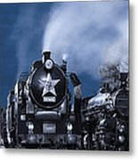 Steam Train In The Night Metal Print