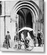 Steam Tricycle, 1888 Metal Print