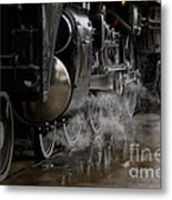 Steam Wheels Metal Print