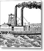 Steamboat, 19th Century Metal Print