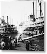 Steamboat Landing, 1906 Metal Print