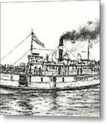 Steamboat Reliance Metal Print