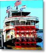 Steamer Natchez Paddleboat Metal Print
