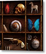 Steampunk - A Box Of Curiosities Metal Print