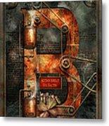 Steampunk - Alphabet - B Is For Belts Metal Print
