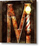 Steampunk - Alphabet - M Is For Mustache Metal Print